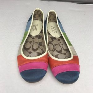 Coach | Colorful Rainbow Flats | Sz 8.5